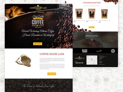 Coffee House Lane photoshop coffee design ux ui website web