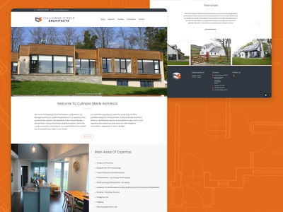 Cullinane & Steele Architects adobe xd wordpress web business architects architecture design ux ui web design website