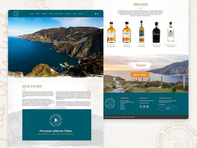 Sliabh Liag Distillery ecommerce webdesign drink alcohol business whiskey donegal ireland adobe xd design web website ux ui