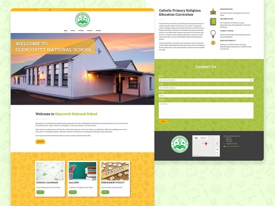 Glencovitt National School children primary school school adobe xd logo branding website design web ux ui
