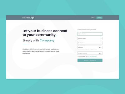 Business Login Page login adobe xd design web ui ux