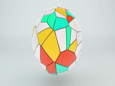 Soccer Ball light render 3d model 3d motion design cinema4d design