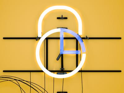 eShares idea perspective light business finance logo design cinema 4d