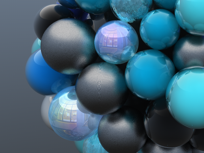 blue ornament render design cinema4d