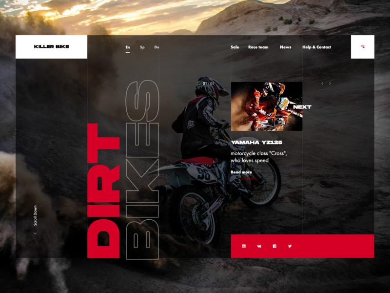 Daily UI #003 - Landing Page design daily ui daily daily ui 003 dirtbike dirt bike web ux website ui
