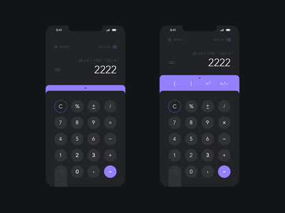 Daily UI #004 - Calculator daily 100 challenge daily challange daily ui 004 calculator app calculate calculator ui calculator ios daily ui daily mobile app design ux ui
