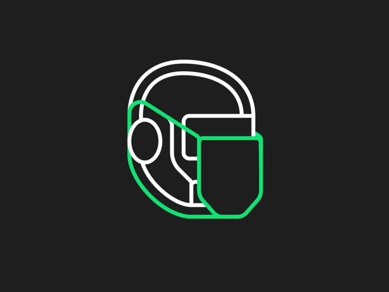 Safety First Bot minimal logo illustration virus defence mask safety facemask health covid19