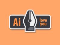 Love for Adobe Illustrator (Sticker Pack #1)