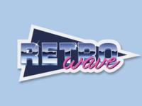 Retro Wave Sticker (Sticker Pack #1)