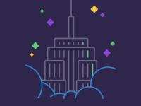 Empire State Building illustration.