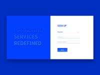 Sign Up. Marketing Service.