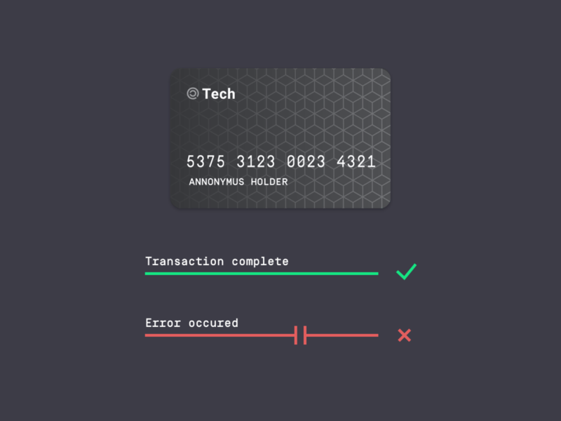 Flash Message (Success/Error) Ui ui minimal dark darkui stealth payment transaction fintech dailyui secure
