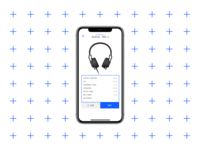 E-commerce page Ui. Headphones