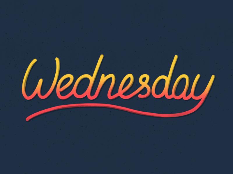 Wednesday. Lettering illustration lettering procreate ipadprolettering calligraphy brushpen type typography grunge vintage wednesday craft