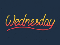 Wednesday. Lettering