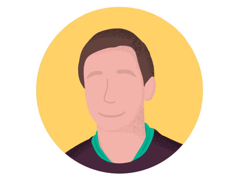 Avatar Illustration drawing procreate social bright guy face human freebie avatar illustration minimal