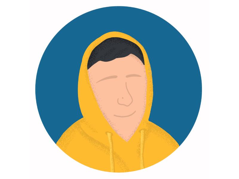 Avatar Illustration 3 hoodie drawing procreate social bright guy face human freebie avatar illustration minimal