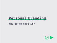 Tip: Why do we need Personal Branding?