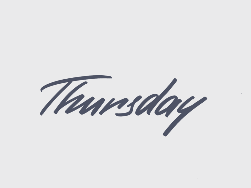 Thursday. Lettering. typography procreate 80s dynamic dailytype typedesign craft handlettering lettering