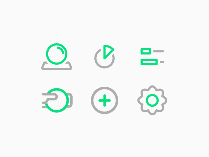 Financial Icons. BudgetBuddy Concept App settings button add icons budget fintech finance personal finance savings expenses illustration mobile ui app fun minimal emotional
