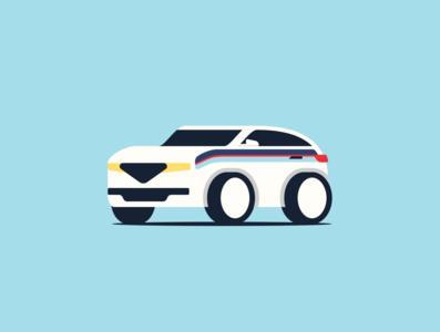 Martini SUV Illustration.