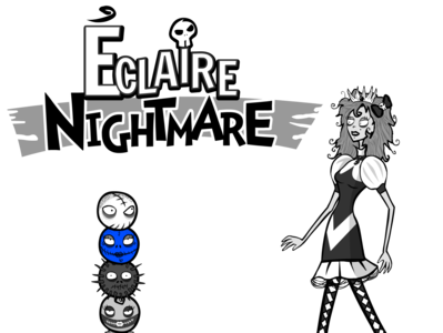 Eclaire Nightmare games vector design logo character illustration video games videogames ikigames photoshop
