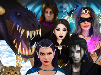 DragonScales 6 character gaming scales dragon games video games illustration videogames ikigames photoshop