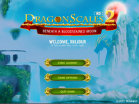 Main Menu of DragonScales 2