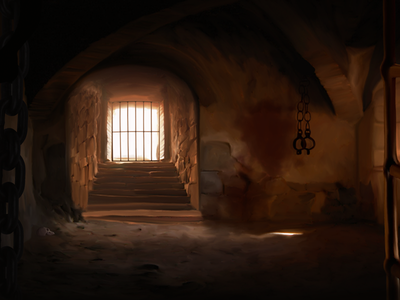 Torture chamber illustration ikigames character photoshop videogames games dragonscales3 chamber torture