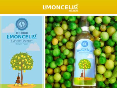 Limoncello branding logo drink illustration lemon cello homemade liquor limoncello