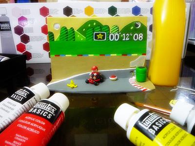 Super Mario Kart Wall Ornament acrylic modeling clay modeling clay ornament videogames games karting mario kart super mario