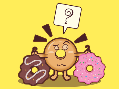Choose design shirt fun cartoon choose donut