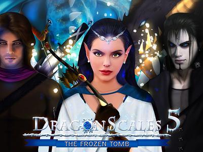DragonScales 4's Promotional Artwor5 digital art games logo character dragonscales scales dragon video games videogames illustration ikigames photoshop