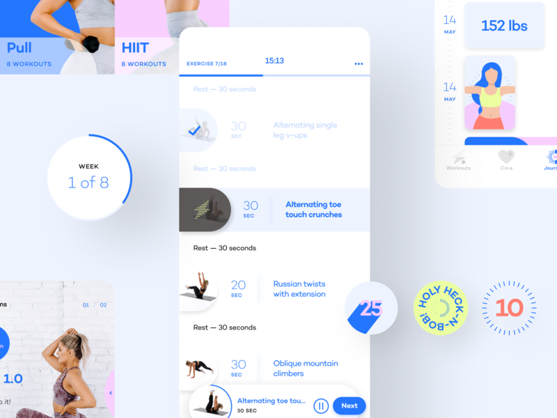 Alive by Whitney Simmons - UI playful elements identity flat app branding icon illustration ui ux typography design