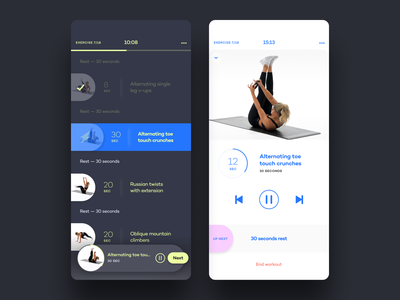 Alive by Whitney Simmons - Workout lightmode darkmode exercise workout animation flat illustration ui app icon ux branding design