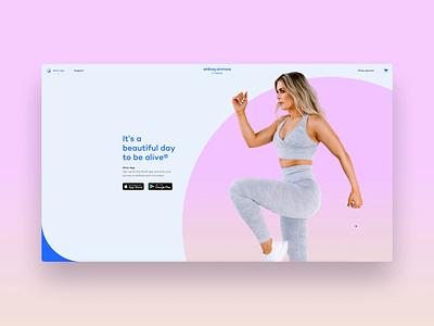 Alive by Whitney Simmons - Website workout system website ecommerce minimal flat app animation web ui brand identity identity branding typography design