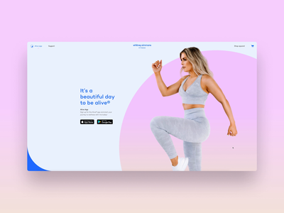 Alive by Whitney Simmons - Website workout system website ecommerce minimal flat app animation web ui brand identity identity branding typography design