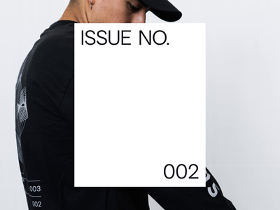 ISSUE NO. 002 editorial illustration type logomark vector illustrator brand identity identity branding typography design apparel
