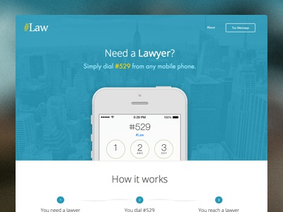 Pound Law simple clean website webdesign law redesign