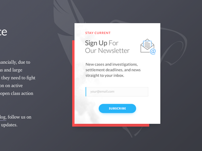Newsletter Signup sneak peek newsletter sign up form email subscribe