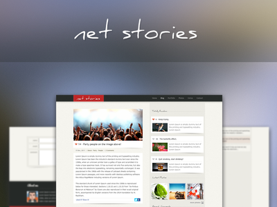 Net Stories Psd Template