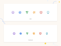 Twist Reactions - Category icons ui interface iconography icon emoji team remote twist communication android ios app