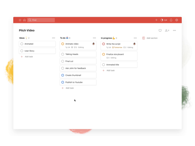 Todoist Boards – Add Section (Web) board kanban project real live app icon todoist task management todo productivity