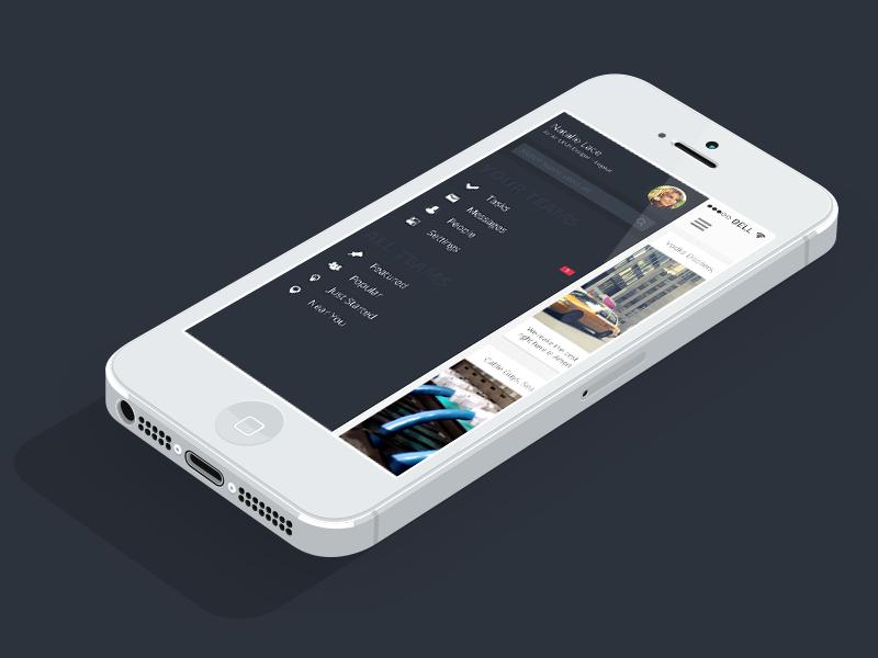 Off Canvas Menu offcanvas menu ios iphone app ui design profile