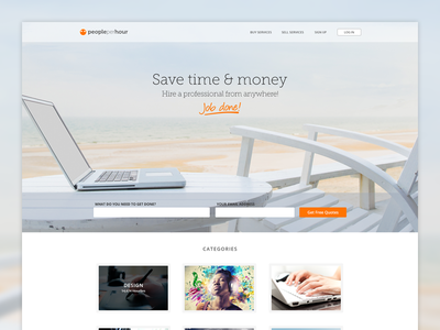 PeoplePerHour v3.0 - Homepage