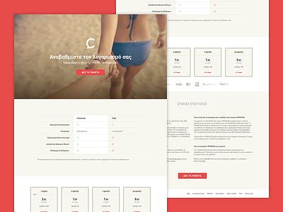 Blindchat Premium Landing Page faq table plans features blindchat landing page design ui