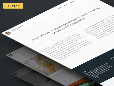 Blog design freebie [.sketch] download wordpress portfolio profile sketch freebie design blog