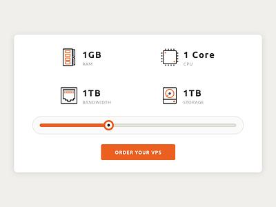 VPS Specs slider hosting vps server icons