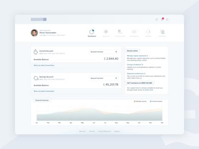 Responsive web banking UI