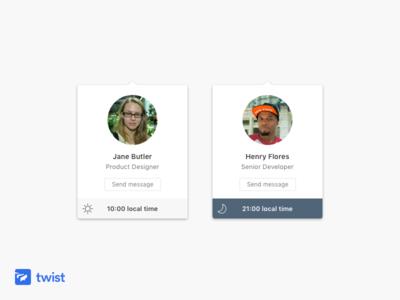 Twist Profile Cards